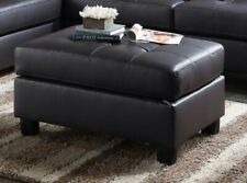 Genoa Faux leather Ottoman Sofa Middle Piece Bench Seat in Espresso Leatherette