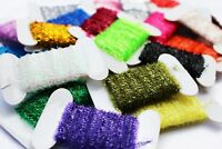 10 Cards 100m Fly Fishing Tinsel Chenille Crystal Flash Nymph Fly Tying Material