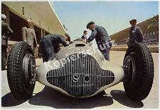 Farbfoto Mercedes-Benz Silberpfeile Stromlinie Mechaniker GP Tripolis Auto 1938