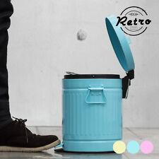 Retro Rubbish bin with pedal amarillo