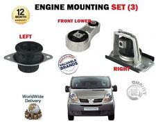 Per Vauxhall Opel Vivaro 2001 -- > ANTERIORE SINISTRA + DESTRA + Set montaggio del motore inferiore
