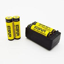 4pcs 18650 3.7V 9900mAh Rechargeable Li-ion Battery Batteries & Smart Charger