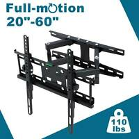 Full Motion HDTV TV Wall Mount Bracket 32 36 37 40 42 47 50 52 55 60 inch