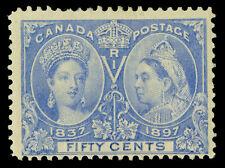 CANADA 1897 JUBILEE issue  50c light blue  Scott # 60 mint MH