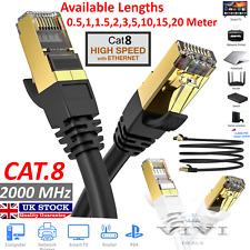More details for rj45 cat8 ethernet cable network gold ultra-thin 40gbps sstp patch lan lead lot