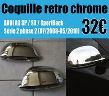 Coquille rétroviseur chrome Audi a3 8p - coque retro s3 sportback 3 et 5 portes