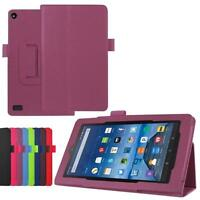 Hot Leather Protective Case Stand Cover For Amazon Kindle Fire HD 7 2015 Tablet