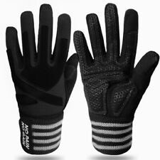 Workout Gloves Men Women Full Finger Weight Lifting Wrist Support S M L XL US