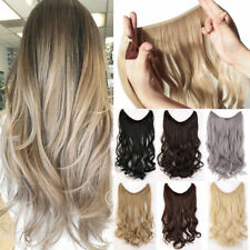 100% Human Hair Secret Headband Wire/Halo Remy Extensions Invisible One Piece