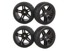 4x Hub Wheel Rim&Rubber Tires HSP RC 1:10 Flat Racing 20111 12mm Hexagonal joint
