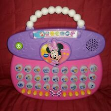 Vtech Disney Minnie Mouse ABC Fashion Purse Educational Learning Toy Pink Purple