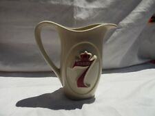 Vintage 1950's Seagram's 7 American Whiskey Bar Pub Porcelain Ceramic Pitcher