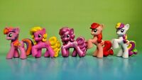 "5 G4 My Little Pony MLP Brushable 1"" Inch Rare Horse Bundle Mini Ponies Pegasus"
