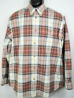 Orvis Men's Size L Long Sleeve Button Down Shirt Plaid Checks EUC