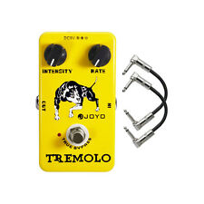 Joyo JF-09 Optical Tremolo True Bypass Guitar Effects Pedal w/ 2 Patch Cables