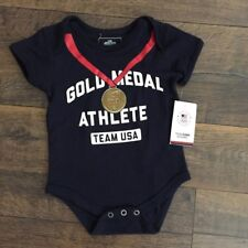 """Team Usa Olympic Team Apparel One Piece """"Gold Medal"""", blue - Size - 18M"""