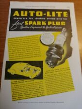 JULY 1937 MAGAZINE PAGE #A333- AUTO-LITE SPARK PLUGS- IGNITION ENGINEERED