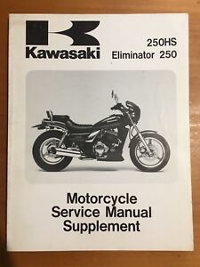 Kawasaki 250HS, Eliminator 250 Service Manual Supplement '88-91 (99924-1093-52)