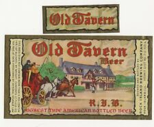 Rock Island Brewing Old Tavern beer label with neck Irtp U# Il