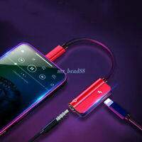 For iPhone X XS XR 7 8 Plus 3.5mm Headphone Adapter and Charge Cable A#
