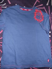 LOVELY BLUE MARKS & SPENCER INDIGO APE T-SHIRT 7-8 Years 128cm a