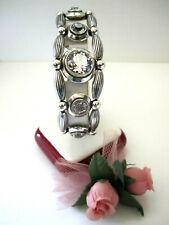 """Brighton """"ART DECO"""" Silver-Crystal Bracelet (MSR$88) NWT/Pouch"""