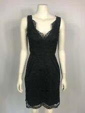 Stella McCartney size 8 fitted black lace cocktail dress sleeveless