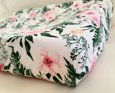GOOSEBERRY Fitted Change Table Mat Pad Cover Cotton Pink Flowers