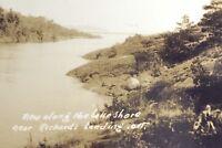 Vintage Real Photograph Scenic Richards Landing St. Joseph Ontario Postcard G906