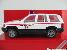 "Herpa 043342 Chrysler Jeep Grand Cherokee (1997)""BSB-FIRE CHIEF"" 1:87/H0 NEU/OVP"