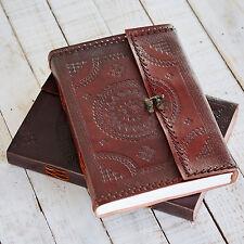 Indra commerce équitable fait main cousue A4 en cuir estampé journal scrapbook