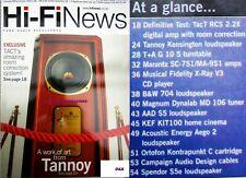 HI-FI NEWS MARANTZ SPENDOR KEF B&W TANNOY KENSINGTON T+A G10S TURNTABLE