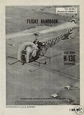 Bell H-13 Sioux rare detailed archive manual 1950s MASH Vietnam chopper historic