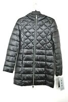 Noize Womens Black Mock Neck Viv Hooded Quilted Lightweight Puffer Jacket XS