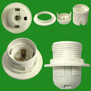 Edison Screw ES E27 M10 Light Bulb Lamp Holder Pendant Socket & Lampshade Collar