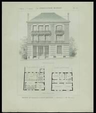 SAINT QUENTIN, BANQUE SOCIETE GENERALE - 1898- PLANCHE ARCHITECTURE - MALGRAS
