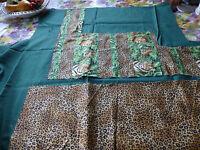 lot tissus Les tons verts et léopards pour créations !1coupon neuf!!!!