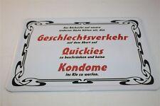 GESCHLECHTSVERKEHR - KONDOME   Blechschild 21x15 cm 0032  Wandschild Türschild