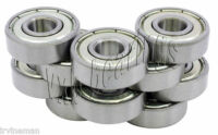 "10 R4ZZ 1/4""x 5/8""x 0.196"" R4Z inch Miniature Ball Shielded Radial Ball Bearings"