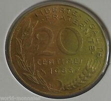 20 centimes marianne 1983 : SUP : pièce de monnaie française