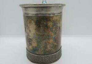 Reed & Barton Silver-Plated Vintage Mug with Lion Handle & Arnold Engraved #1010