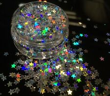 10ml Holographic Silver Glitter Stars Pot-Nail Face Eye Body Festival Cosmetic