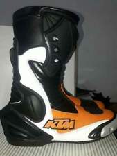 KTM Motogp Motorbike/ Motorcycle Racing leather shoes for Adults