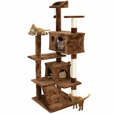 "Large Playing House Condo 53"" Cat Tree Tower Activity Center For Rest Brown"