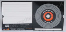 Vinyl CD-R Carbon Orange 10 in Kartonstecktasche ,700 MB zum archivieren