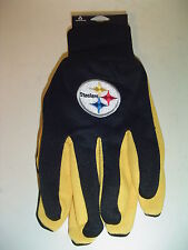 Pittsburgh Steelers Football adult sz Nfl Team Utility Garden driving Gloves