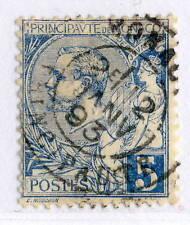 MONACO - 1891-94 - Yv.13 - 5c Blue - Oblitéré TB