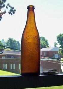Amber Soda/Beer, Lascheid Bottling Co, Pittsburg, Pa T top pint