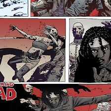 Cotton Fabric by the Yard - Licensed WALKING DEAD - WOMAN SWORD MICHONNE