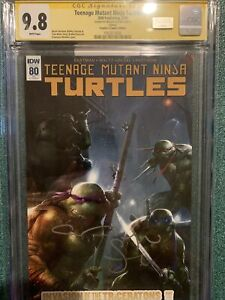 IDW TEENAGE MUTANT NINJA TURTLE #80 • CGC SS 9.8 • VARIANT • SIGNED MEGAN FOX
